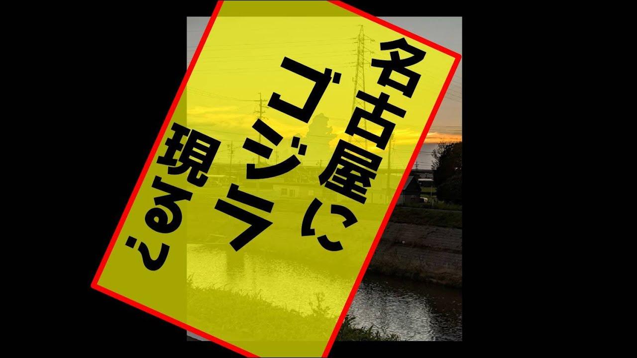名古屋  小牧基地西方30km ゴジラ現る!? (GODZILLA JAPAN  NAGOYA Near Komaki Base 未確認生命体 UMA )