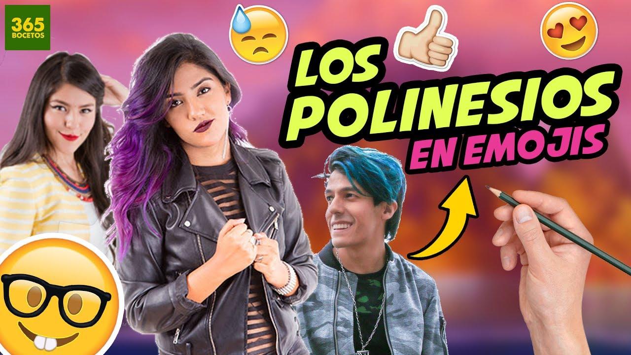 Como Dibujar A Los Polinesios En Emojis Youtube