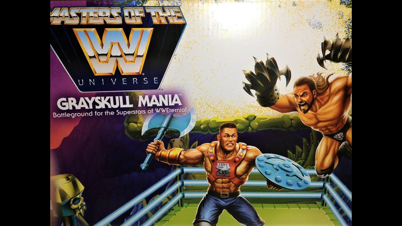 WWE Masters of the Universe John Cena Triple H MOTU Ring Mattel Bundle Set New