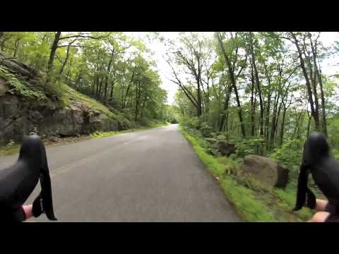 Excerpts of cycling ascent and descent of Bear Mountain NY