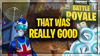 THAT WAS ACTUALLY REALLY GOOD!! (Fortnite Battle Royale)