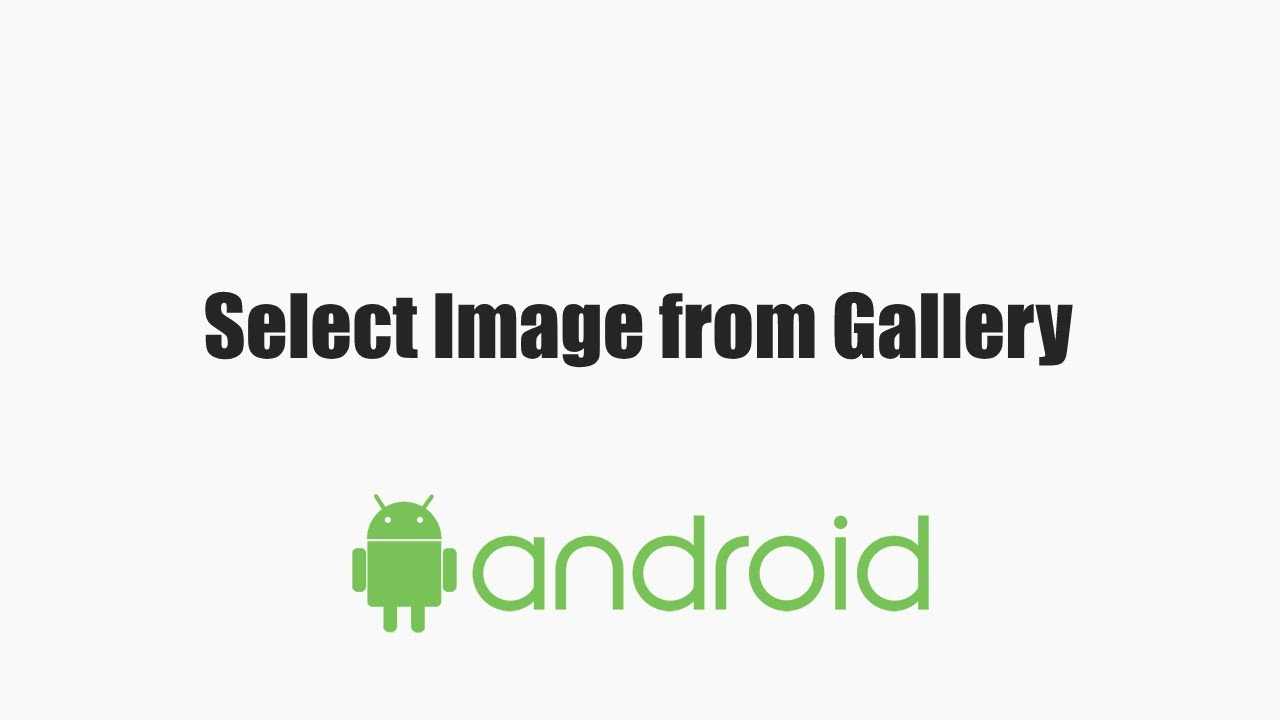 Select an Image from gallery in ANDROID and show in an ImageView