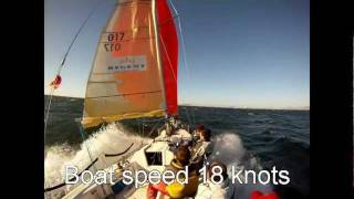 Sports boat severe broach with man overboard