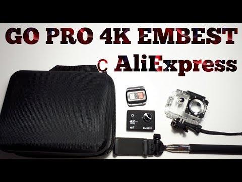 #114 ОБЗОР Камеры GO PRO 4K EMBEST с ALIEXPRESS