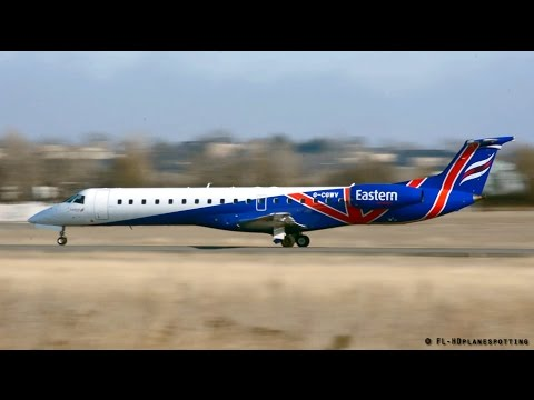 Eastern Airways Embraer ERJ-145 Landing & Takeoff at Rodez airport