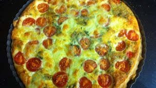 Tomato And Cheese Quiche - Simpley Cooking