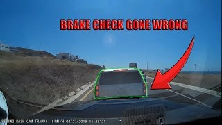 Semi Trucks and Cars Brake Checked - RAGE or INSURANCE SCAM attempt? | Fail Compilation 2019  #11