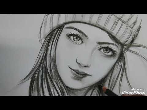 Menggambar Wajah Wanita Cantik Versi Lambat | Drawing Beatiful Face