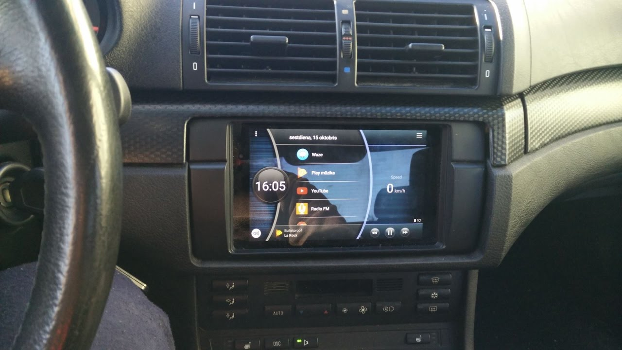 Nexus 7 tablet in BMW 323i (E46) with OEM Harman Kardon