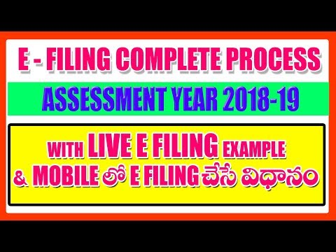 Income Tax E Filing in Telugu  AY 2018-19