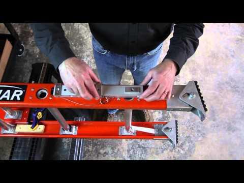 Levelok Quick Connect Ladder Leveler Installation on Little Giant Lunar Extension Ladder Type 1A
