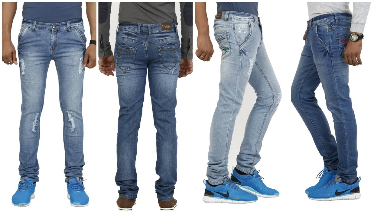 Jaxom Premium Slim Fit Blue Jeans For Men - YouTube