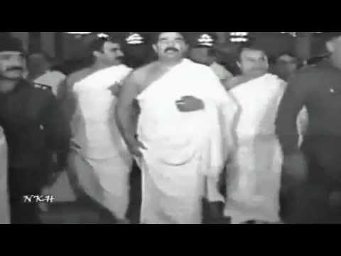 Saddam Hussain doing Hajj