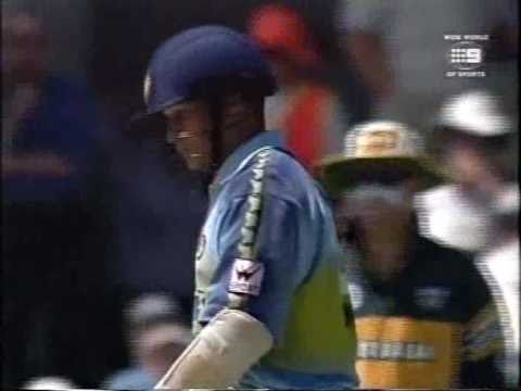 Sachin Tendulkar faces a stunning over of swing bowling, watch his reply....