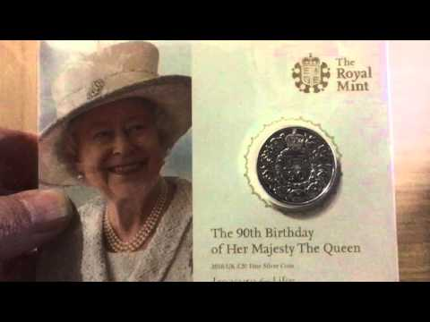 90th Birthday Of UK Queen - Silver Proof Coin