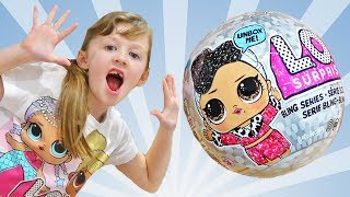 LOL Dolls Surprise BLING Series Kids videos for kids playing with toys by Ava Isla Olivia