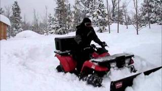 Repeat youtube video ATV Plowing 3 Feet of Snow: Kawasaki Prairie 400