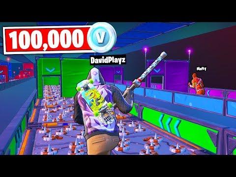 אם אני מנצח אני מקבל 100 אלף ויבקס!!! (פורטנייט קריאייטיב מוד פארקור)