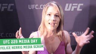 UFC 229 Media Day: Felice Herrig Scrum