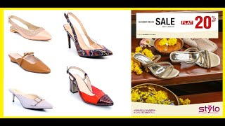 Stylo Shoes Sale With Price #Latest Winter Collection #Back Open Heels Sandals=FSBS