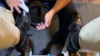 ASMR old school shoe shine