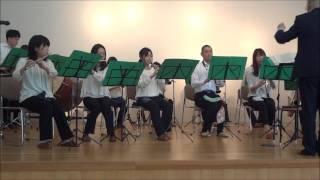 平成29年4月1日観桜会(県立伊丹高校)、校歌演奏