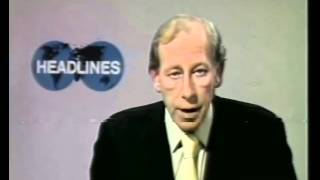80s and 90s UK TV - News and Weather Excerpts: BBC1 News headlines with Peter Woods