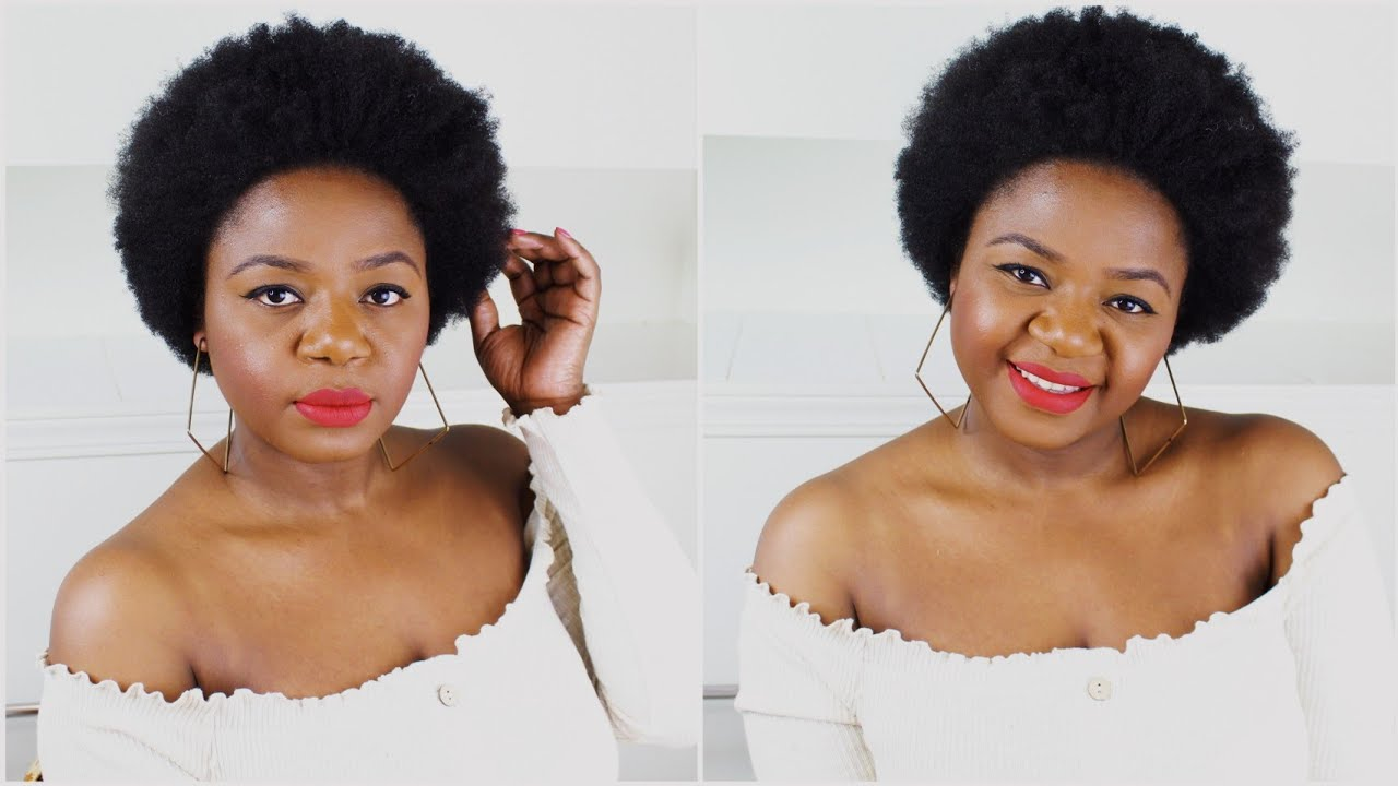 Afro On Short 4c Hair Afro Hair Routine Short Natural Hair Youtube