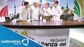 México, Chile, Perú y Colombia firman acuerdo de Alianza del Pacífico, en Cartagena