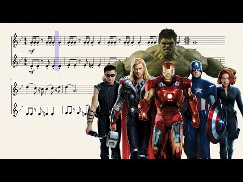 The Avengers Theme for Bb Trumpet Duet