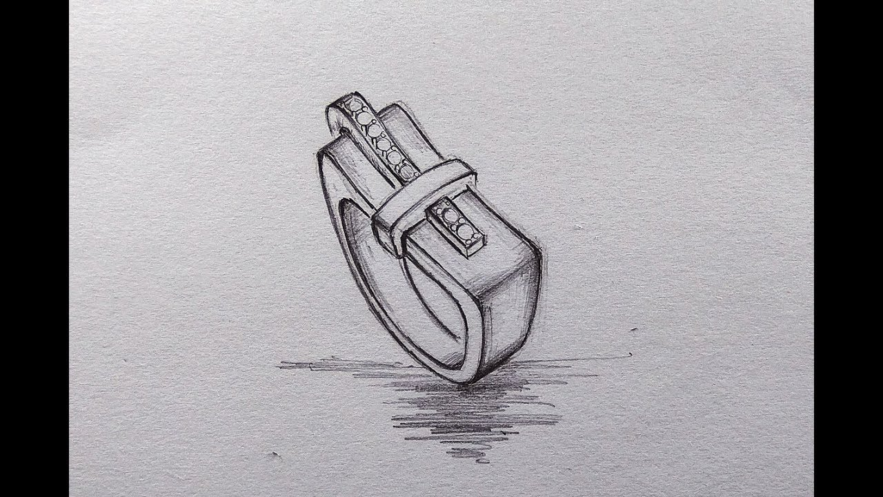Mens ring jewellery design how to draw mens ring pencil sketching