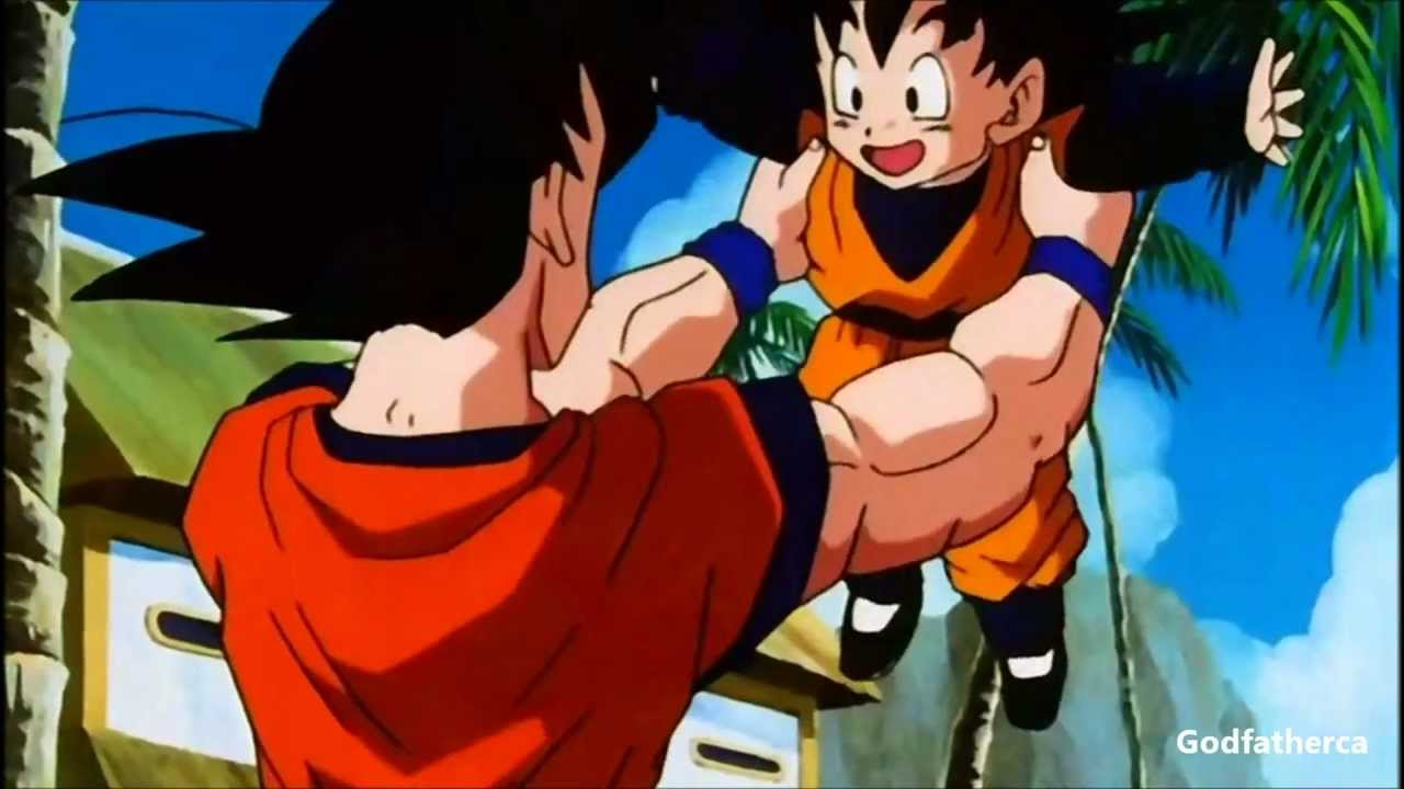 goku meets goten for the first time 3d hd 1080p youtube