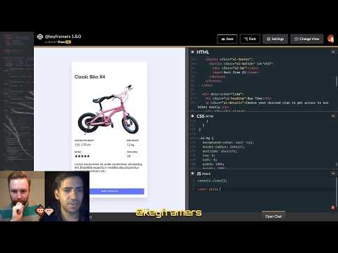 Bike Blender 🚲🌪️| App UI With CSS & JS | @keyframers 1.8.0 | Collaborative Coding Live Steam