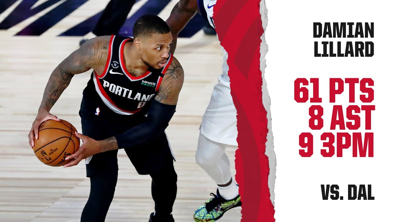 Trail Blazers' Damian Lillard scores 61 points in critical win over ...