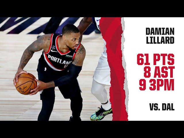 Damian Lillard (61 PTS, 8 AST) Highlights | Trail Blazers vs. Mavericks