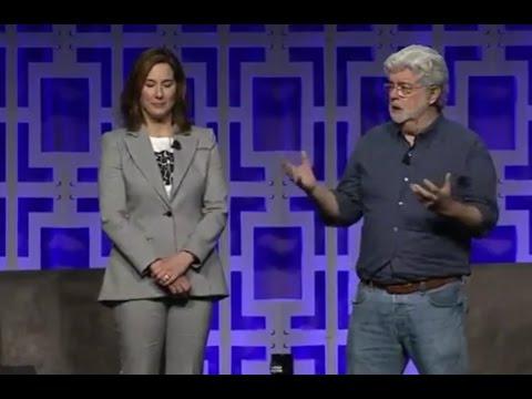 Carrie Fisher Tribute John WIlliams George Lucas - Star Wars Celebration 2017
