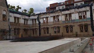 Obras en el IES Sagasta de Logroño