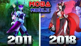 Evolution of MOBA Mobile English Version Games 2011-2018 (Android/IOS)