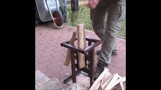 Home made wood splitter with 4 blades