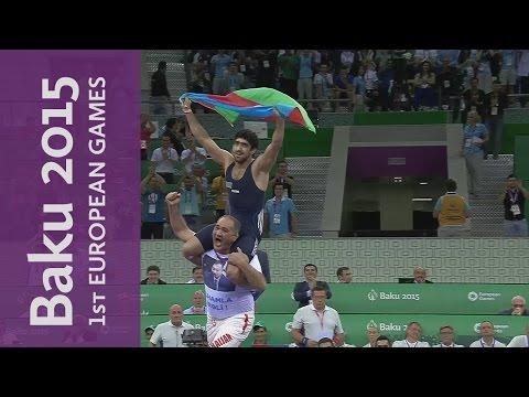 Azerbaijan's Asgarov wins Gold by decisive pinfall | Wrestling | Baku 2015 European Games