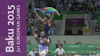 Azerbaijan's Asgarov wins Gold by decisive pinfall | Wrestling | Baku 2015 European Games