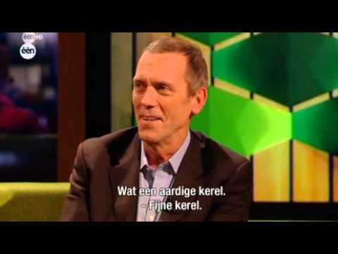 Hugh Laurie interview on Belgian TV (Cafe Corsari)