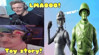 Streamers React to *NEW* Plastic Patroller & Toy Trooper Skins - Fortnite Battle Royale