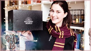 LOOT CRATE HARRY POTTER WIZARDING WORLD JULY 2018 UNBOXING | Book Roast