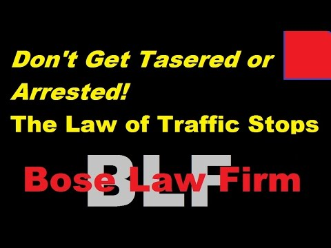 Police Brutality or Misunderstanding of the Law of Traffic Stops? Sudeep Bose