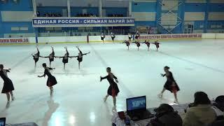 Чемпионат и Первенство России по синхр  KMC Произвольная программа 12# Кристалл Айс Джуниор