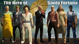 HITMAN 2 - The Hero of Santa Fortuna Silent Assassin Guide Umbrella Exit Easter Egg