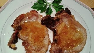 Pork Chops With Orange Juice. Spanish Food. Easy Cooking