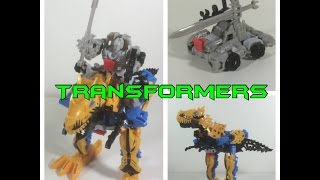 Transformers Silver Knight Optimus Prime & Grimlock Construct Bots Set | Open Box Adventures