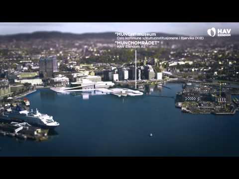 Oslo waterfront development animation